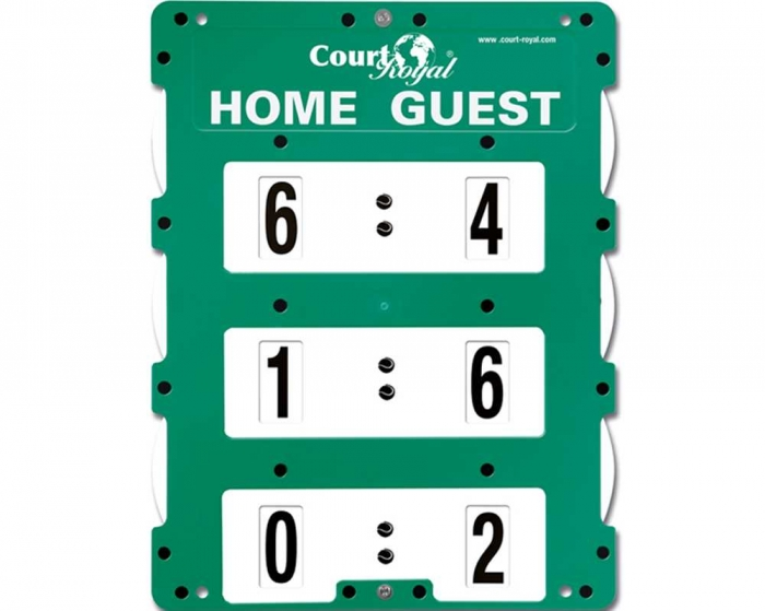 Tennis Scoreboard<br> Court Royal Pointer green