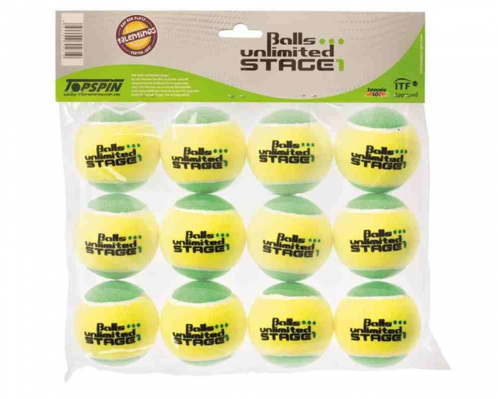 Tennisball unlimited Stage 1<br> VE 12 Stück