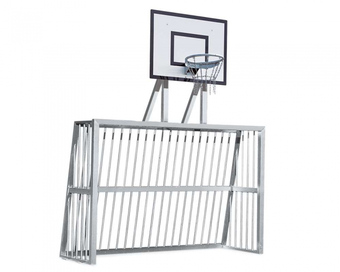 Playground Goals 3.00 x 2.00 m<br> Aluminum Profile 80x80 mm<br> with Basketball-Board